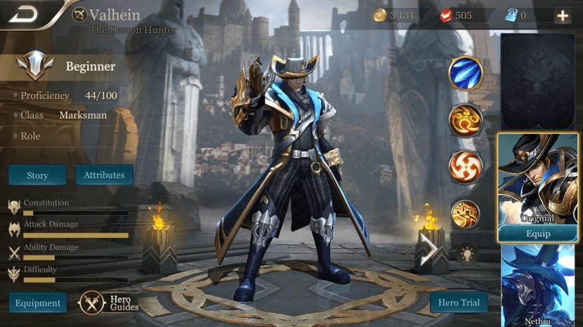 heroes del juego para android arena of valor