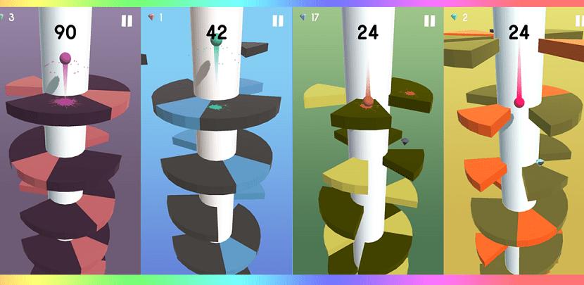 niveles de helix jump