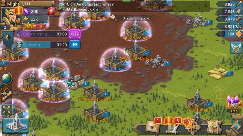 los castillos de lords mobile el juego