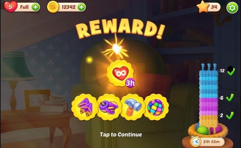 recompensas del juego