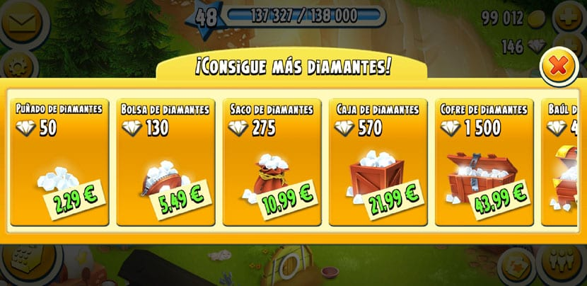 conseguir diamantes gratis hay day