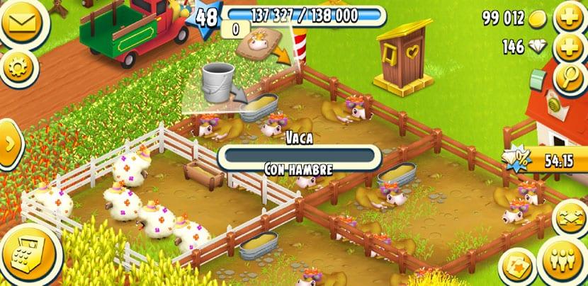 animal vaca en el juego