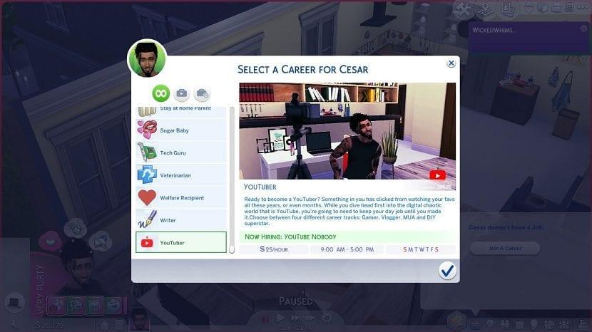 Elegir profesion Sims 4