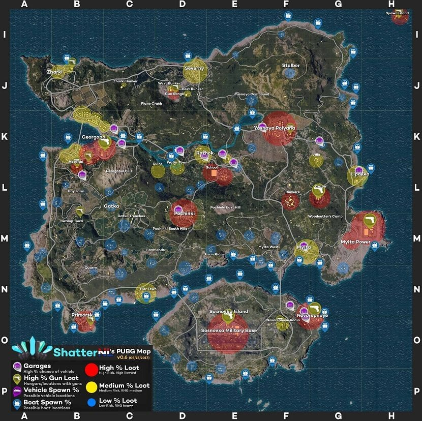 PUBG mapa recompensas