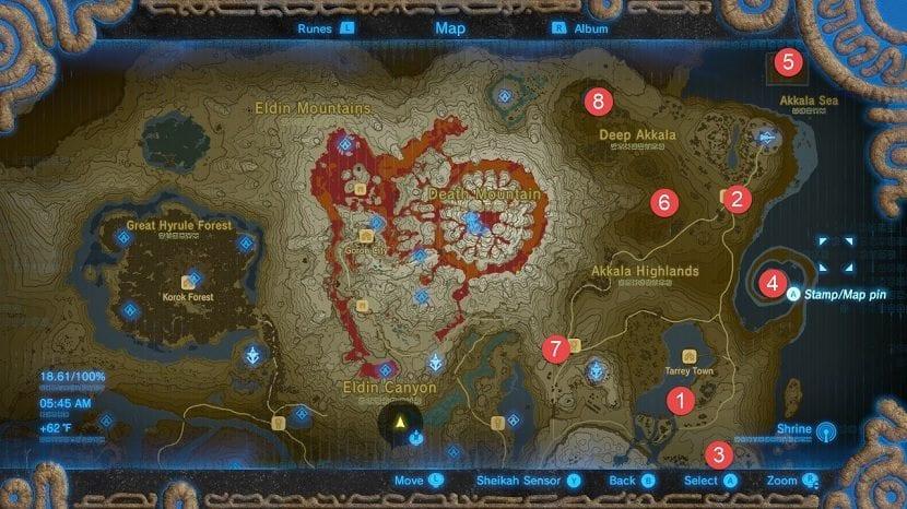Akkala mapa santuarios