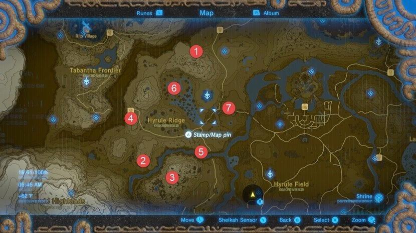 Mapa santuarios de las colinas