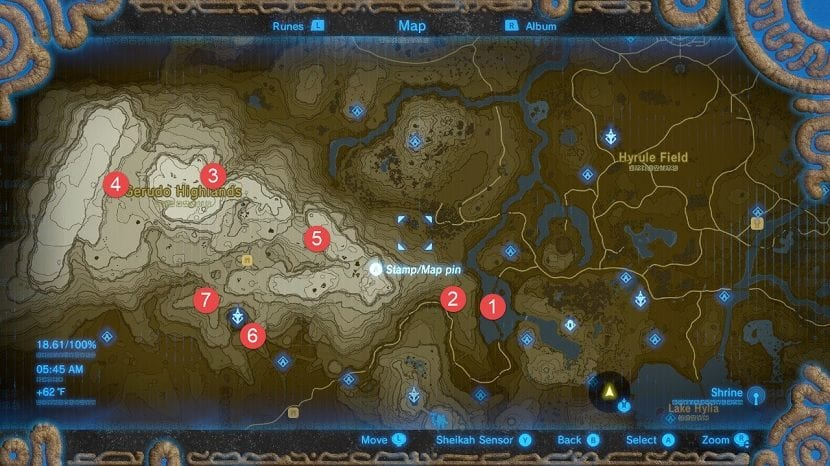 Gerudo mapa de santuarios
