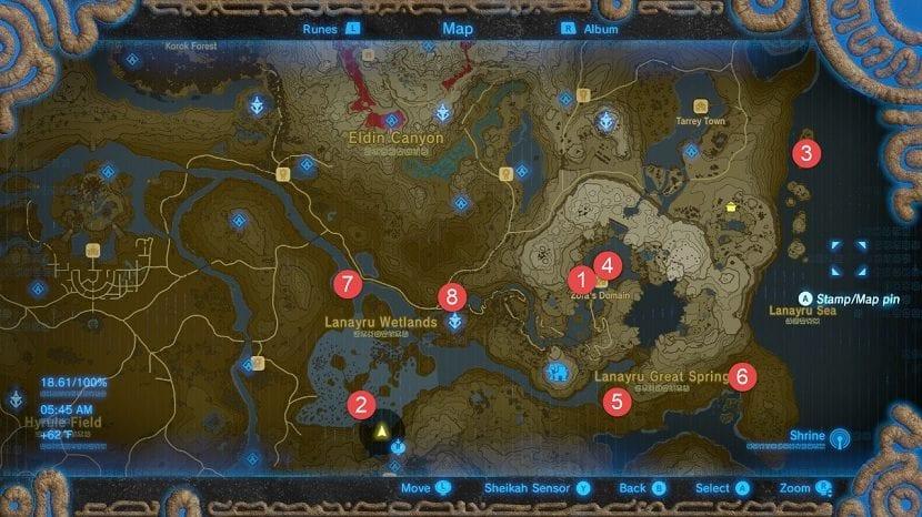 Lanayru Santuarios mapa