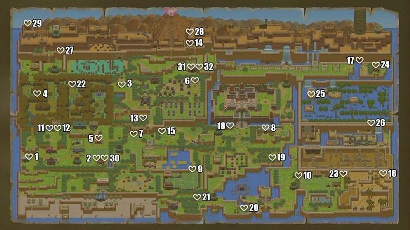 Mapa piezas corazon
