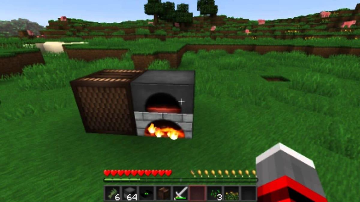 Minecraft cocinar comida en el horno