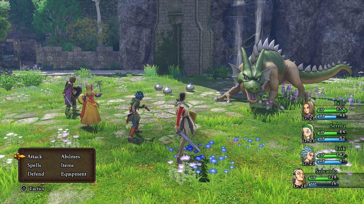 Combate Dragon Quest XI