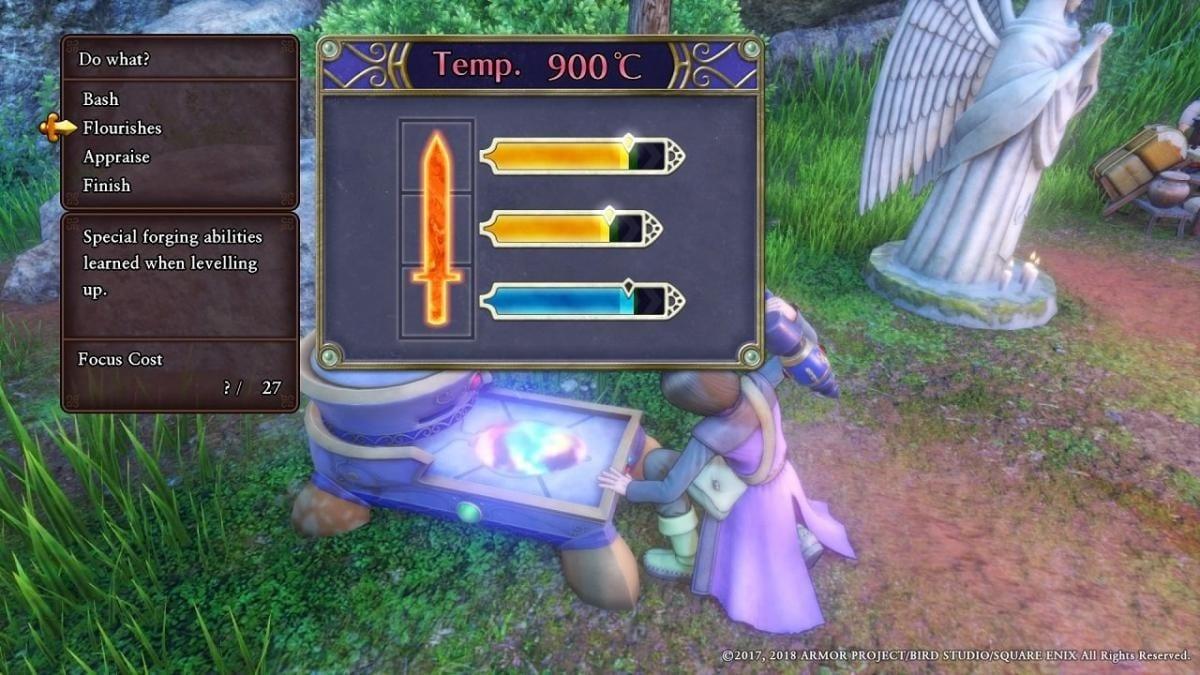 Dragon Quest XI crear arma
