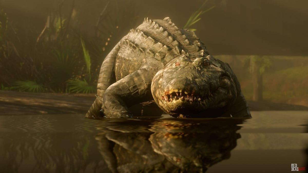 Red Dead Redemption 2 caiman gigante