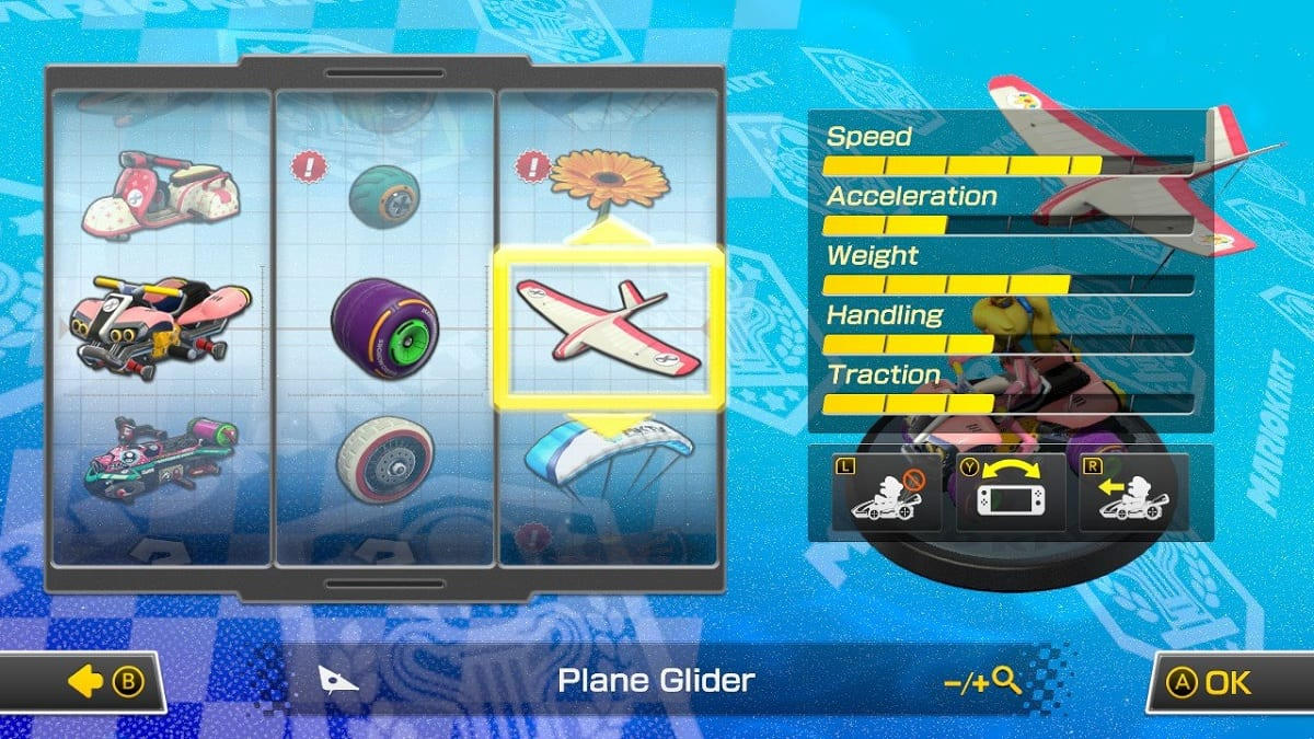 Mario Kart 8 Deluxe configurar coche