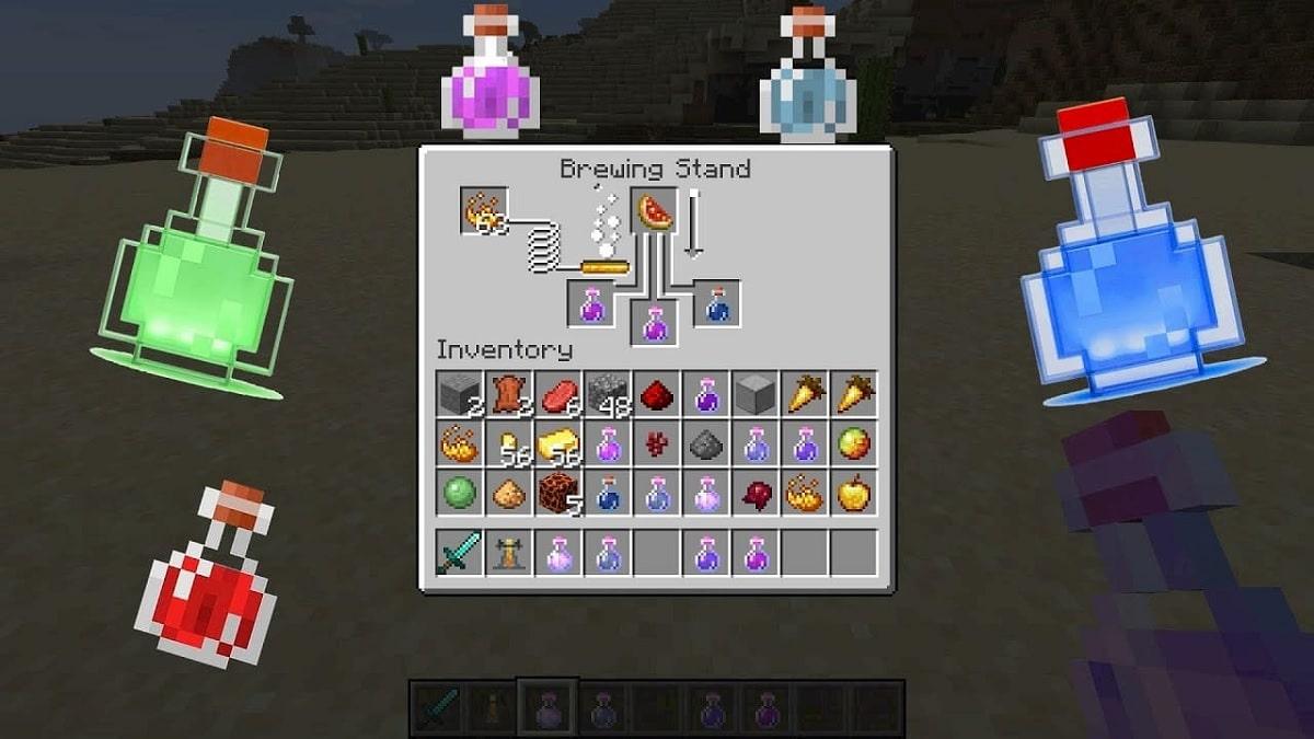 Minecraft pociones y alquimia