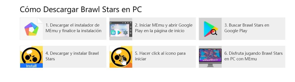 Pasos descargar Brawl Stars PC