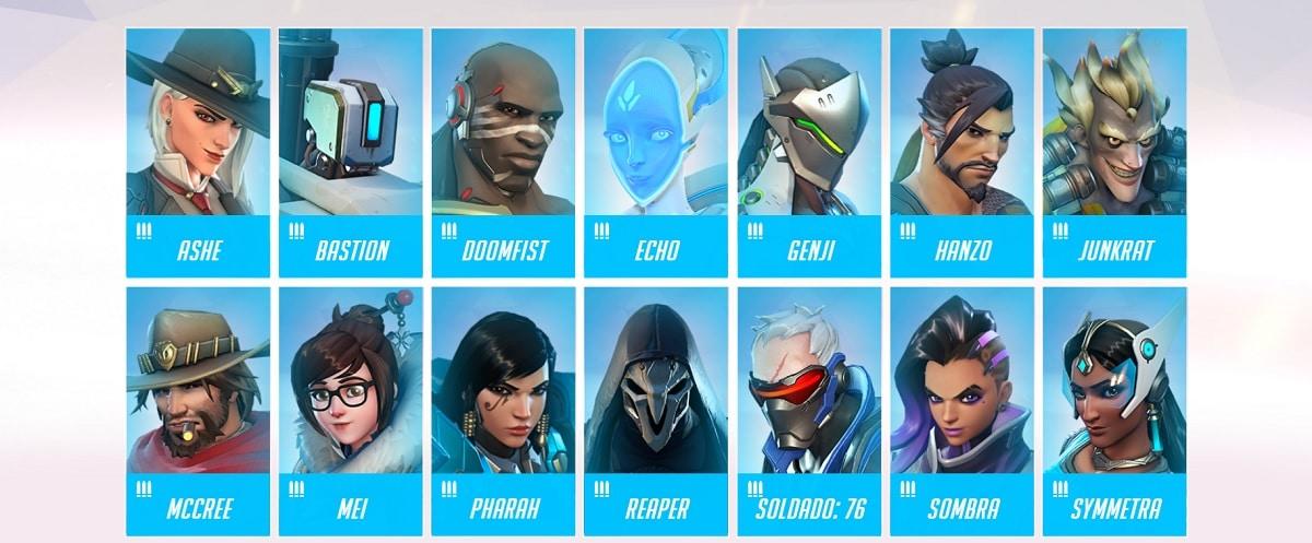 Overwatch personajes daños