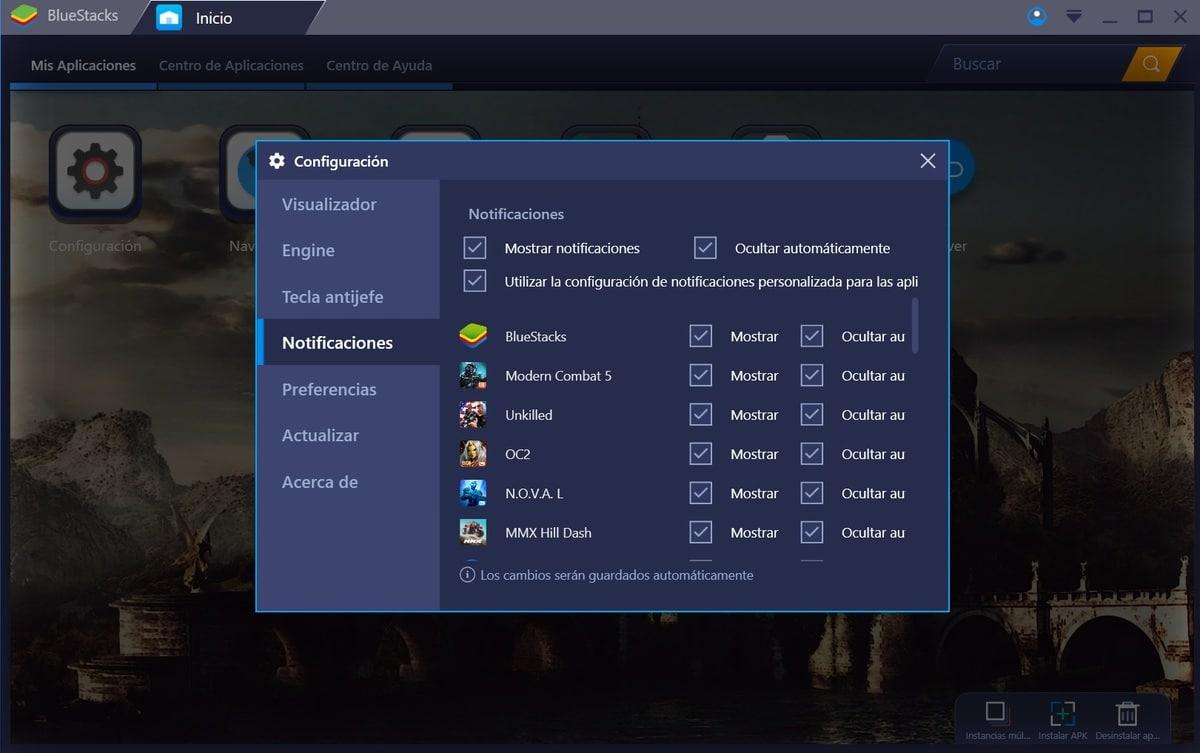 Configurando BlueStacks
