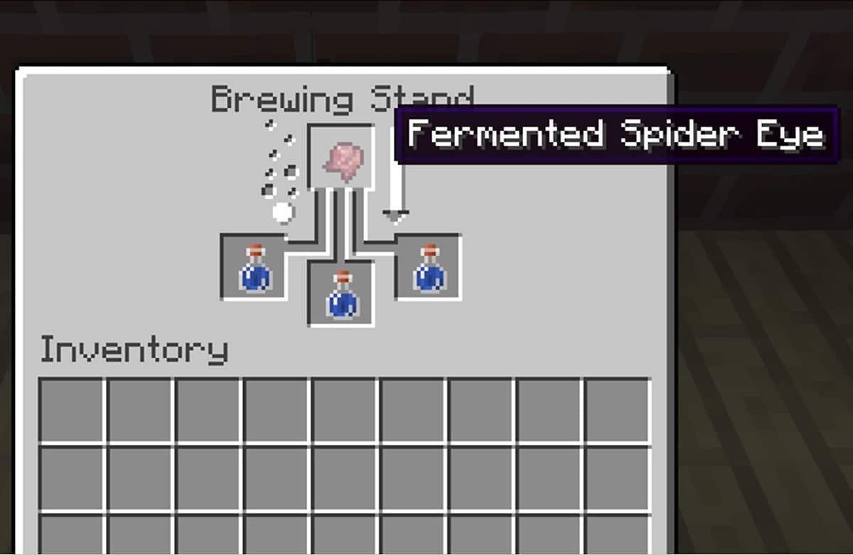Ingredientes pocion de debilidad Minecraft