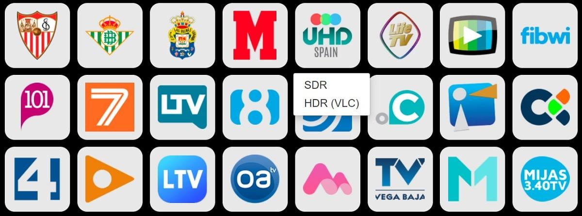 Photocall TV elegir señal