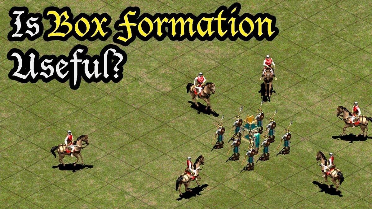 Age of Empires 2 formacion en caja