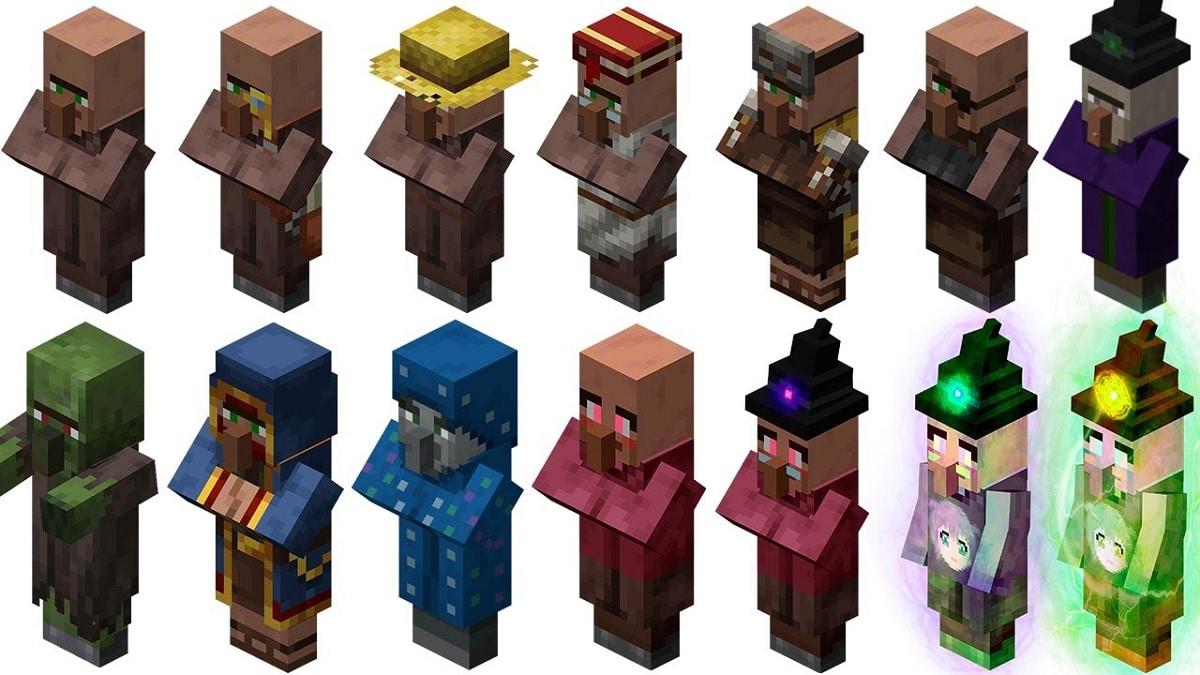 Aldeanos en Minecraft