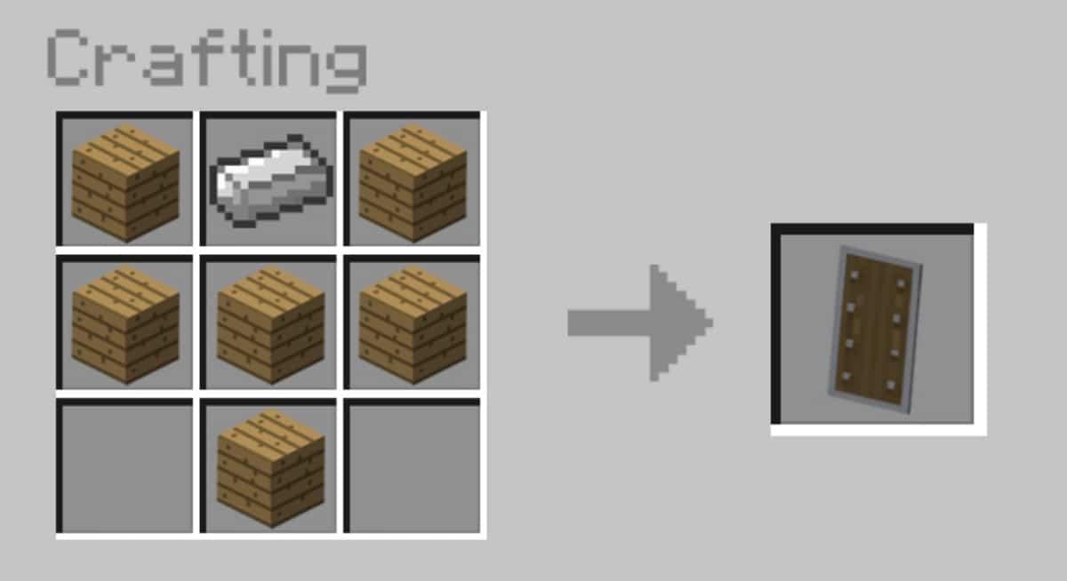 Craftear escudo en Minecraft