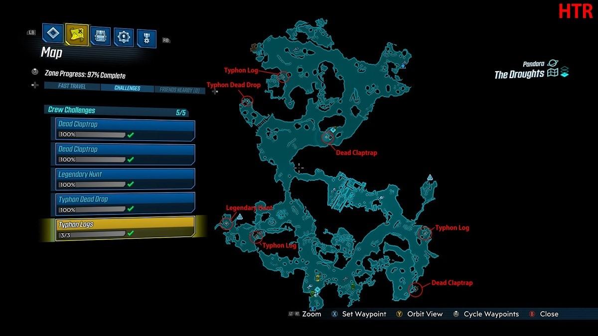 Desafios Borderlands 3