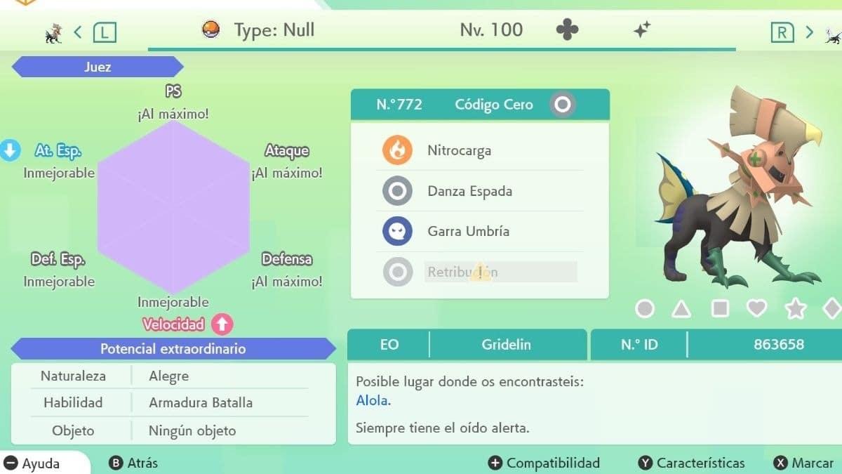 Naturalezas Pokemon
