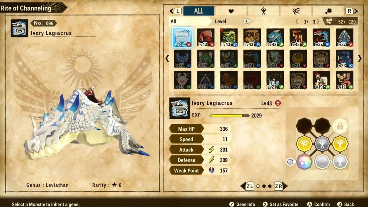 Monster Hunter Stories 2 atributos