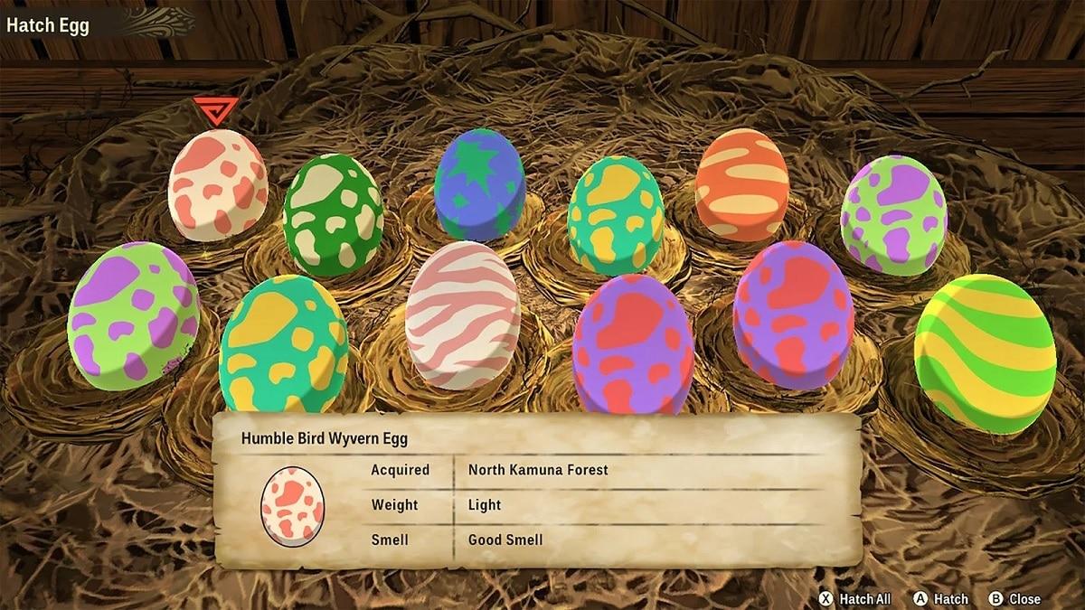 Monster Hunter Stories 2 huevos