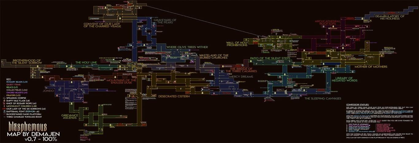 Mapa completo Blasphemous